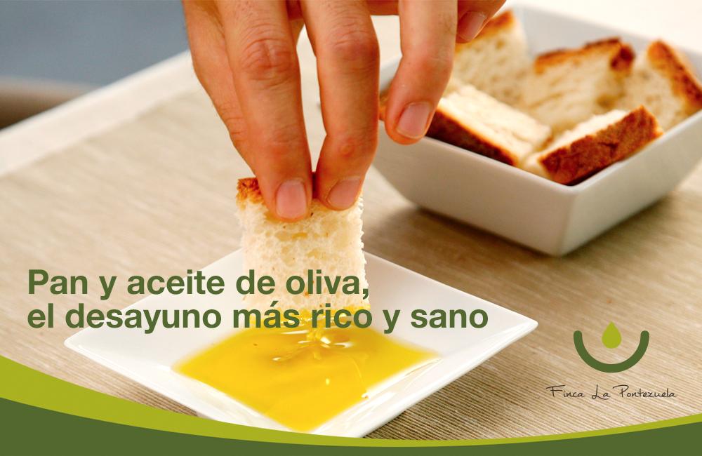 Pan y aceite de oliva, el desayuno más rico y sano
