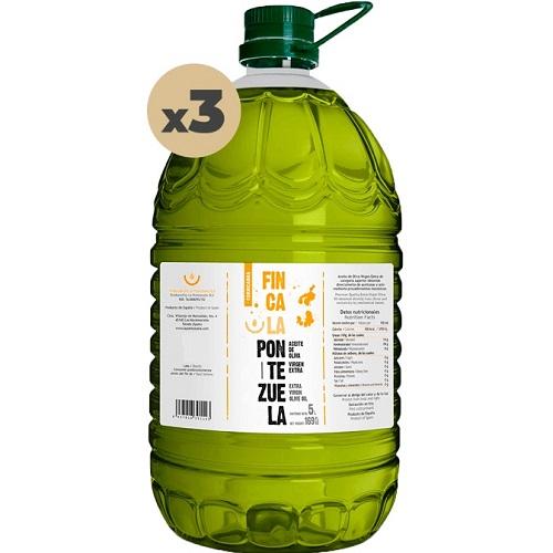 Aceite Finca la Pontezuela Cornicabra 3x5L